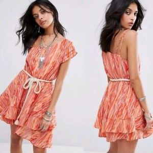 FREE PEOPLE Heart Shaped Face Rope Belt Minidress
